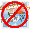NaNoWriMo badge with a No symbol overlaid