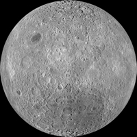 NASA image of the far side of the moon
