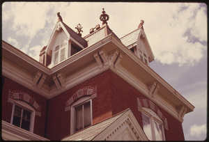 Roofline detail of a Victorian restoration in Atchison, KS.