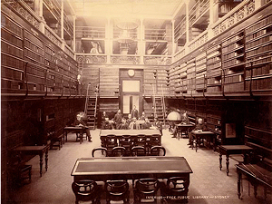 Inerior of the Free Public Library, Sydney [circa 1892]